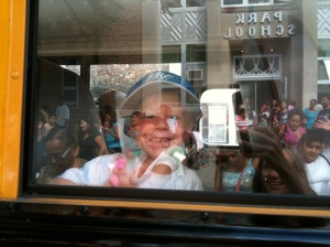 Here's my little guy at bus orientation last fall when he entered PreK.