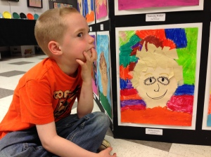 Paxton's Self Portrait on display now is his first public showing.