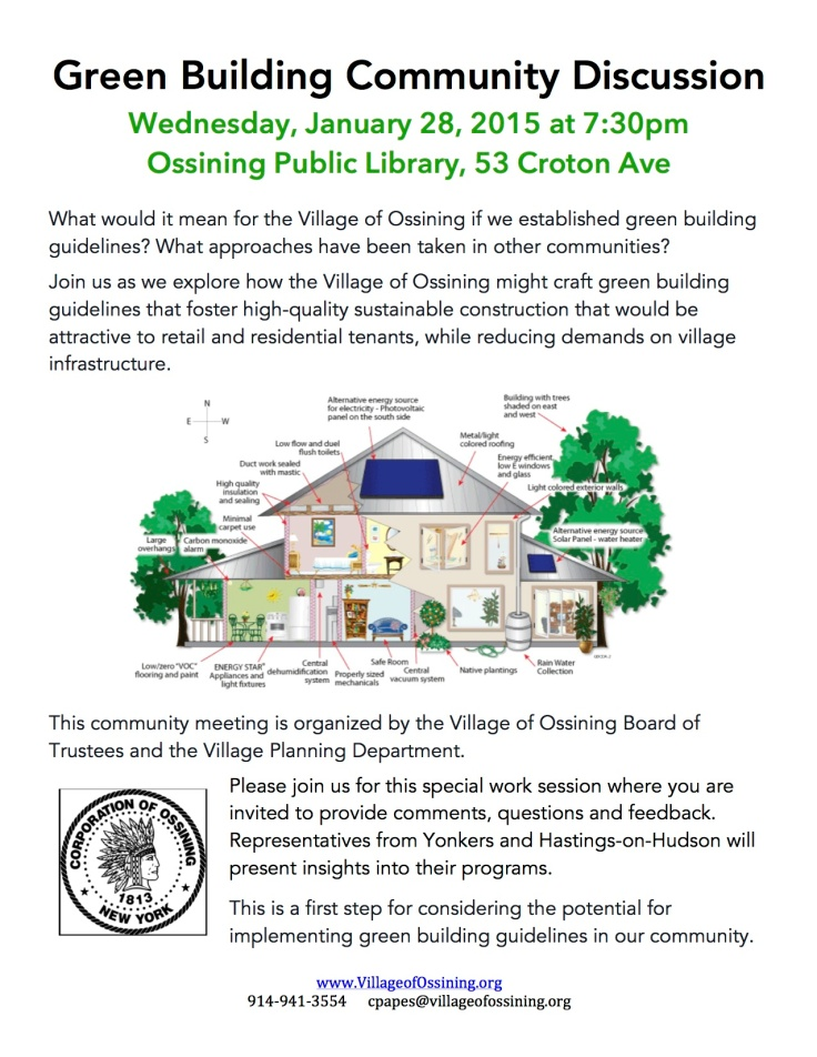 Green Building Community Discussion Flier
