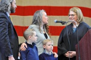 Ossining Inauguration V takes oath, L looks